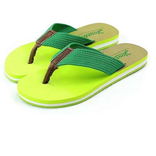 Baymate Unisex Adulto Infradito Graduale Colore Coppie Pantofole Casuale Sandali Donna Verde