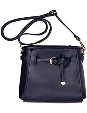 TutuShop Schultertasche Damen Einfach Elegant Schulter diagonal Tasche - Schwarz