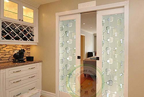 Etiqueta de vidrio Película de ventana de privacidad esmerilada en 3D Pegatinas de vidrio de oscurecimiento estático de vinilo Aislamiento térmico opaco Cubiertas de ventanas decorativas @ 60_x_200_