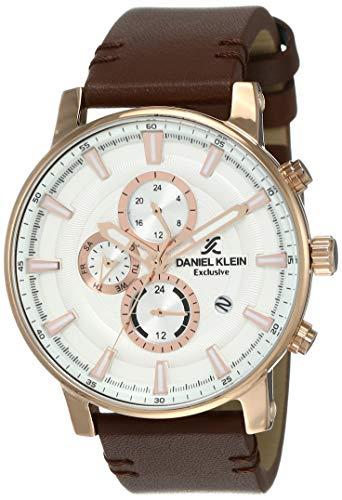 Daniel Klein Analog Silver Dial Men's Watch-DK12103-4