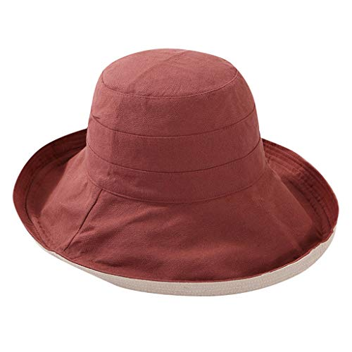 CENDAY Hut Unisex Sommerhut Bucket Hut Fischer Hut Faltbar One Size Sonnenhut UV Schutz Anglerhut Erwachsener Lichtschutz Kappe