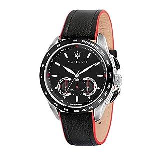 Reloj para Hombre, Colección Traguardo, con Movimiento de Cuarzo y función cronógrafo, en Acero y Cuero – R8871612028