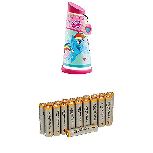My Little Pony 274MPY Veilleuse Nomade GoGlow Plastique Rose avec piles AmazonBasics