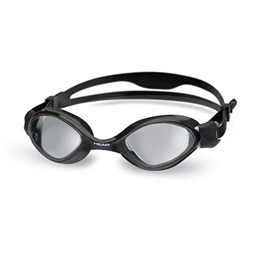 HEAD Erwachsene Schwimmbrille Tiger Mid, Black-Smoke, One Size, 451038BKSMK