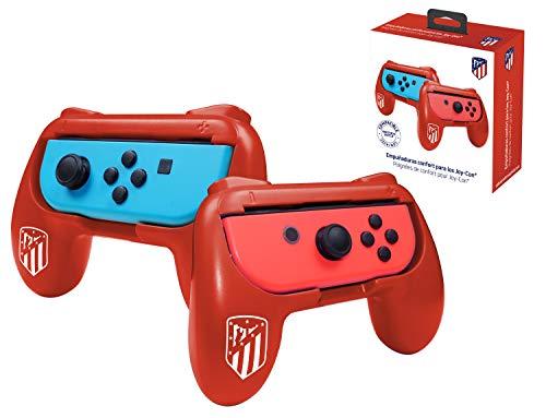 Pack de 2 poignées de confort ergonomiques pour manette Joy Con Nintendo Switch - Droit/Gauche - Atlético de Madrid