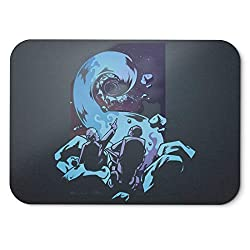 BLAK TEE Deep Black Hole Space Mouse Pad 18 x 22 cm in 3 Colours Black