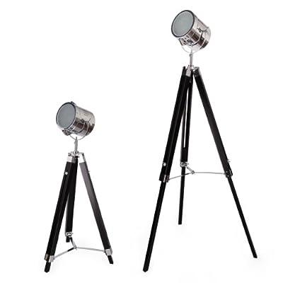 [lux.pro] Stehleuchte Stehlampe 1 x E27 Dreifuss Lampe Studio Film-Scheinwerfer Industrial Design Leuchte Standleuchte Studioleuchte von lux.pro® bei Lampenhans.de