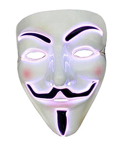 Inception Pro Infinite Maske für Kostüm - Verkleidung - Karneval - Halloween - Anonym - Helle LED - Orange - Erwachsene - Unisex - Frau - Mann - Jungen - ()