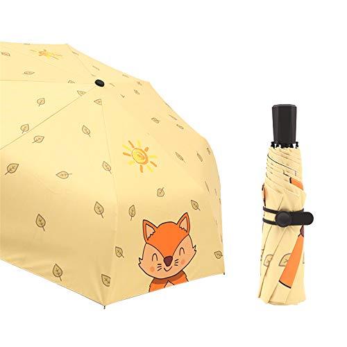 LYJZH Regenschirm - robust, windsicher und sturmfest, windfester Taschenschirm Automatische ultraleichte 50{6bb328cd8602acf78968d112a1d81b5feee8e64b82b4dd0842b3aaea843aeb1d} UV-Regenschirm Farbe6 97cm