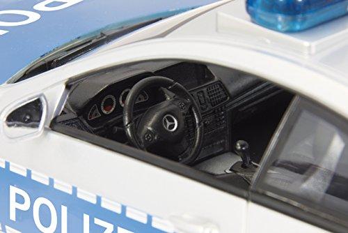 Jamara 410023 - Mercedes E350 Coupe 1:16 Polizei 2,4GHz - deutsche Polizeisirene, Alarmanlage, Startton, Beschleunigungston, Bremston, Hupe, Zusperrton, Signalleuchte, Blinker, 4 Geschwindigkeiten - 4
