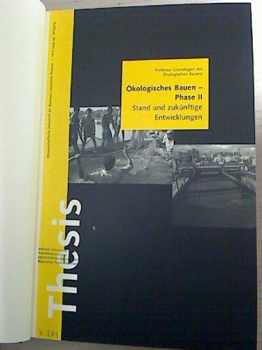 Thesis. - Wissenschaftliche Zeitschrift der Bauhaus-Universität Weimar. - 45. Jg. / 1999, Heft 1 -...