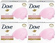 Dove Moisturising Beauty Cream Bar Soap Pink, 135g - (Pack of 4)