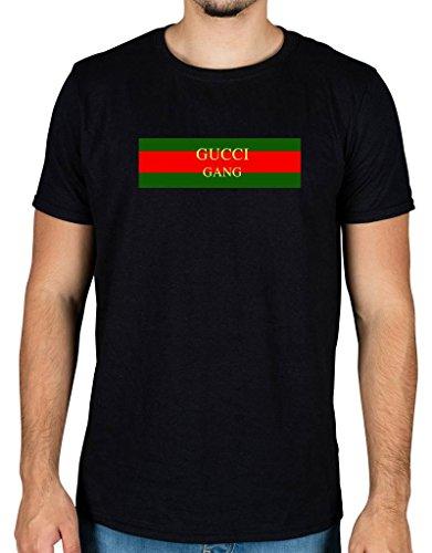 Ulterior clothing gucci gang flag t-shirt lil pump d rose molly skrr trap music