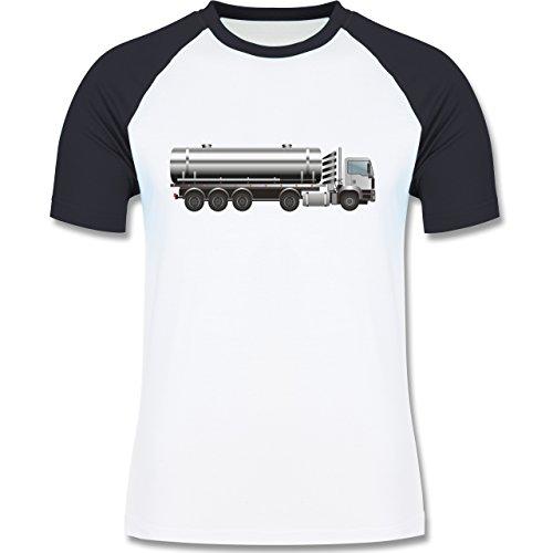 Andere Fahrzeuge - Tankwagen Tanklaster Tanklastwagen - zweifarbiges Baseballshirt für Männer Weiß/Navy Blau