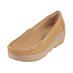 Mochi Women Beige Synthetic Loafers ( Size Euro39/Uk6 )