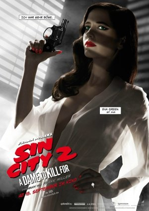 SIN CITY : A DAME TO KILL FOR – German Imported Movie Wall Poster Print – 30CM X 43CM Brand New Eva Green (Kill Für To Dame City Dvd Sin)