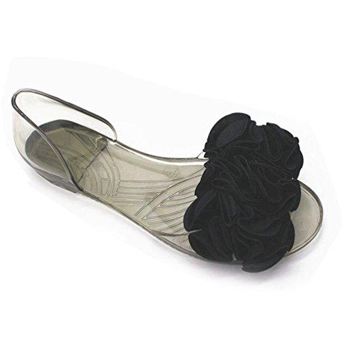 JRenok Frauen Sandalen Blume gleitet Sandalen Zehenoffenen Sommer Outdoor-Beach Wohnungen Slipper Badeschuhe - Erde-schuh-sandalen Frauen