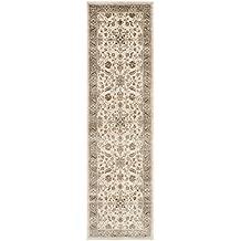 Safa Ganado Vintage Premium Collection vtg168 – 3410 Transitional Oriental Piedra y ratón marrón Distressed seidiger