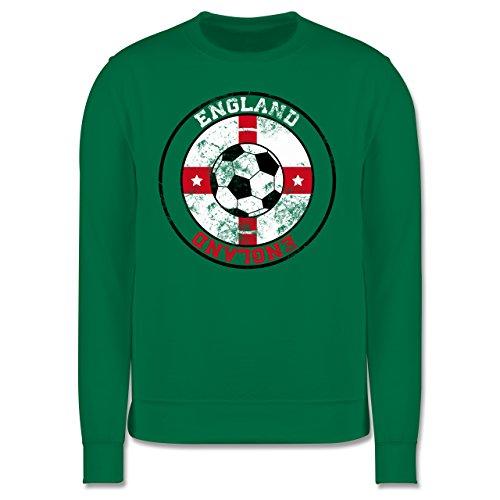 EM 2016 - Frankreich - England Kreis & Fußball Vintage - Herren Premium Pullover Grün