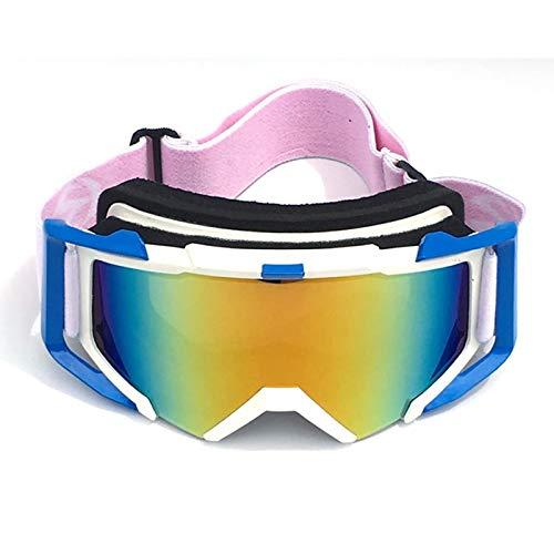 MaxAst Sonnenbrille Outdoor Brille Herren Unisex Schutzbrille Antibeschlag Weiß Blau