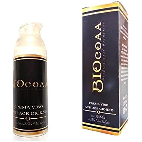 La Mejor Crema Anti-Edad para la cara - orgánica - crema de día - 50 ml - la única crema con ácido hialurónico, aceite de oliva y aloe vera