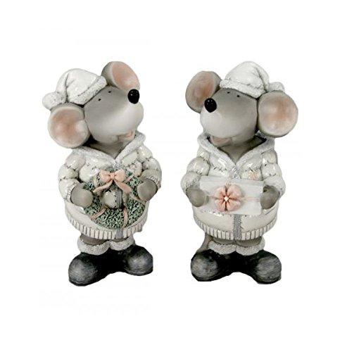 Zwei Figuren Maus noel