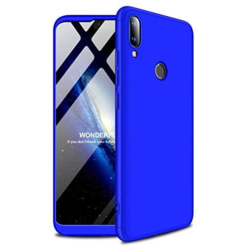 MISSDU compatibile con Custodia Huawei y7 pro 2019 Case Cover originale a 360 gradi Protezione Leggero Bumper Protettiva Caso+Non incluso Pellicola Protettiva - blu