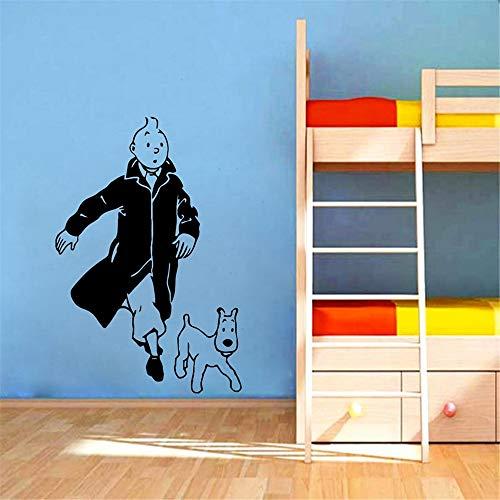 Wandtattoo Wohnzimmer Wandtattoo Schlafzimmer Wandaufkleber Schlafzimmer Tim mit Hund Cartoon Kinderzimmer Abziehbilder Tim und Struppi Poster