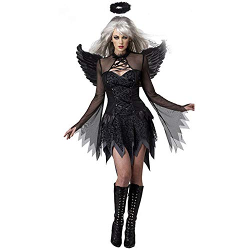 Elf Kostüm Dark Cosplay - Caige Sexuelle Kleidung, Cosplay Ghost Bride Dress Elf Uniform Halloween Vampire Dark Angel Kostüm