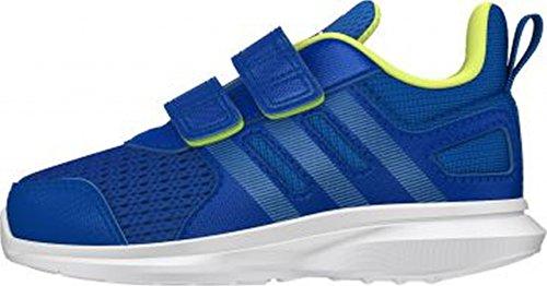adidas , Chaussures de course pour garçon rose Bleu / citron vert / blanc