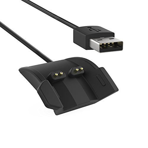 MoKo Garmin vívosmart HR Smart Watch Ladegerät Charger - Premium Ersatz USB-Ladekabel Ersatz-Ladegerät Ladestation Charging Dock Adapter USB Ladekabel für Garmin vívosmart HR Fitness-Tracker, Schwarz