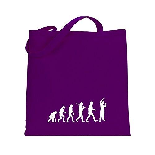 Shirtfun24 Baumwolltasche EVOLUTION HIP HOP Rap Rapper, bottle (grün) lila violett
