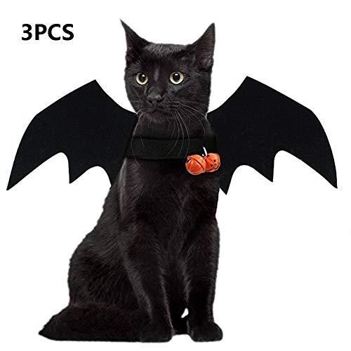 Hunde Drei Beinen Kostüm - Haustier Fledermaus Kostüm, Halloween Flügel Katze Hund Fledermaus Kostüm, Cosplay Kostüm Für Halloween Vampire Party Haustier Kostüm (3 Teile),B