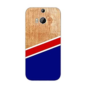 Designer Cute Phone Cases for HTC M8-Wood With Line