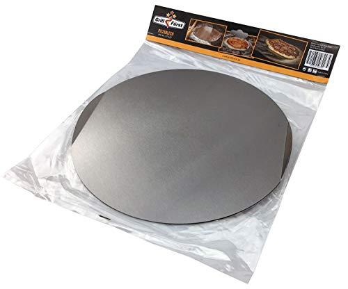 Grillfürst Pizzablech / Pizzaschaufel Edelstahl 31 cm - mit praktischen tragegriffen