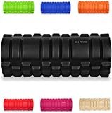 "KG | PHYSIO Foam roller for deep tissue massage used for Muscle Massage Grid Roller Design! - 13""x5"" - Ideal for Yoga, Pilates, Myofascial Release, Muscle Pain relief, IT Band, Trigger Point Massage, Stiffness Relief"
