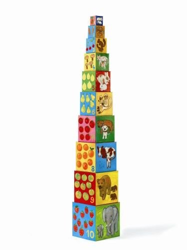10 cubes mes amis les animaux Djeco