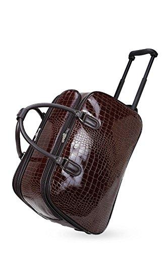 LeahWard® Damen Eule / Schmetterling Drucken Reisetasche Reisetasche Handgepäck Damen Wochenende Handtasche Auf Rädern Wagen CWS00308 CWS00308C Schwarz 48X26X29CM