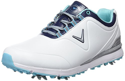 Callaway Damen Lady Mulligan Waterproofs Golfschuhe, Weiß White/Blue, 39 EU