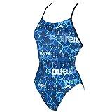 arena Evolution Booster Back One Piece Swimsuit Women pix Blue-Navy Größe DE 34 | US 30 2018 Schwimmanzug