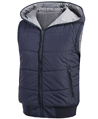 Coofandy gilet con cappuccio Wendeweste Übergangsjacke sport invernale in cotone da uomo