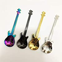 shuzhen-kitchen,De alta calidad de acero inoxidable cuchara de cafe creativo de guitarra.(color:Black)