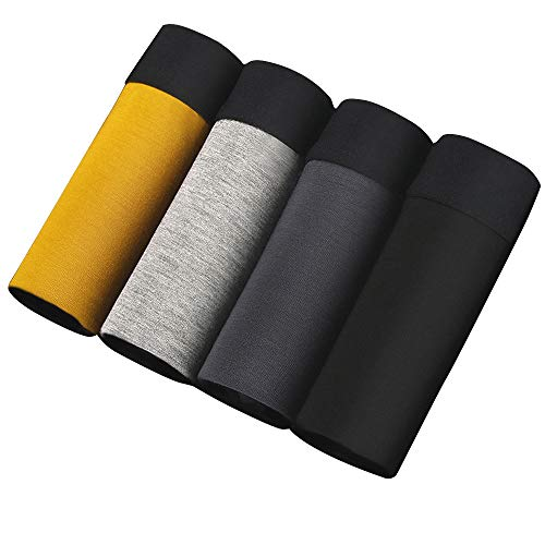 SWISSWELL 4er Pack Herren Unterhosen Micro Modal Seidenweich Boxershorts Men's Underwear Männer Hipster Modal Unterwäsche, Set 3, EU-L/Herstellergröße-2XL