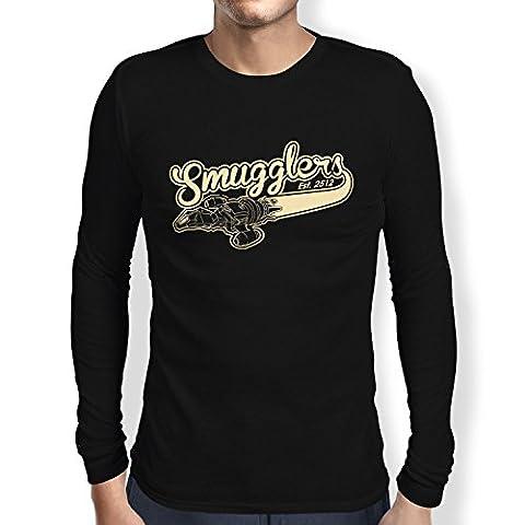 TEXLAB - Smugglers - Herren Langarm T-Shirt, Größe L, schwarz