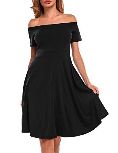 Meaneor Damen Schulterfreies Kleid Abendkleid PartyKleid Cocktailkleid Sommerkleid Wickelkleid...
