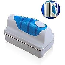 Hermao magnético acuario pecera de cristal algas rascador limpiador cepillo Scrubber Herramienta M