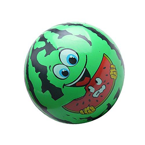 (MagiDeal Wassermelone Gesicht Kinder Aufblasbare Blow-up Ball Strand Pool Spielzeug grün)