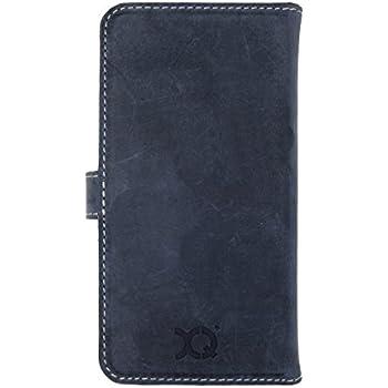Xqisit 19028 Etui à rabat latéral WalletCase Eman Cuir support/emplacement CB pour iPhone 6 Bleu