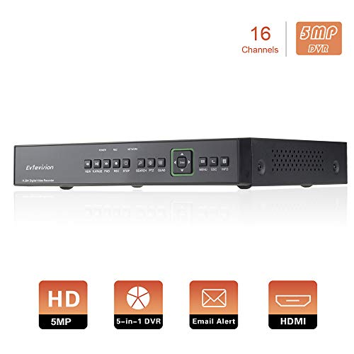 Evtevision 16 Canales 5MP CCTV DVR Grabador Video
