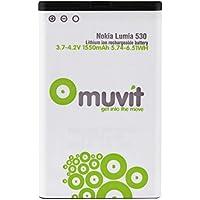 Muvit MUBAT0046 - Batería de litio 1550 mAh para Nokia Lumia 530